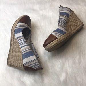 Bass Shoes - Super Cute Bass Kaitlyn Striped Wedge Espadrilles